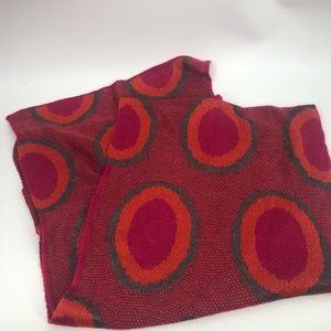 Echo scarf.  Exc cond bright pink orange